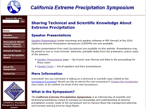 California Extreme Precipitation Symposium